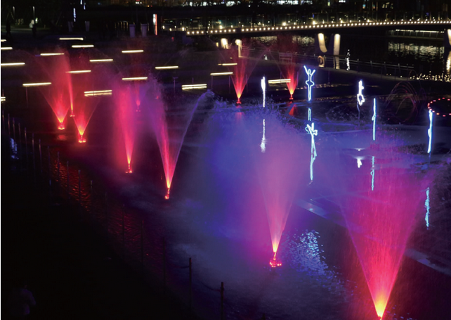 fountain led light