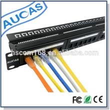 Hot sale china factory baixo preço novo projeto amp 24 portas painel de patch / systimax rj11 patch painel / rack painel de patch de montagem