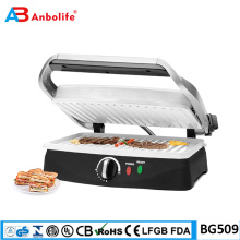 Frühstückspresse kommerzielles Zuhause digitaler Sandwich-Toaster 6 Scheiben Antihaftbeschichtete Platten Mehrzweck-Elektro-Panini-Grill