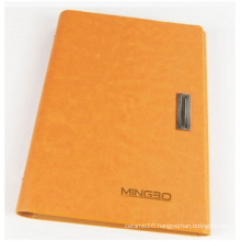 Orange Hardcover Notebook for Adverting. Artpaper Notebook with Lock
