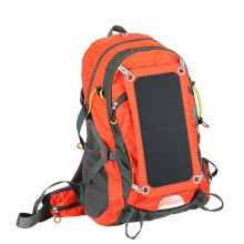 Solar backpack with USB output for mobile phone, suitable for outdoor sports