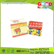 OEM & ODM Детский сборник игрушек дома, оптовая деревянный дом собрания, дети деревянные игрушки дома