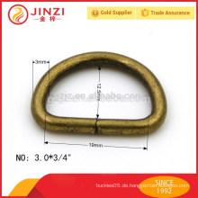 19mm breiter Anti-Messing Eisen D Ring für Handtaschen Zubehör