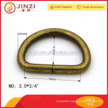 19mm wide anti-brass iron D ring for handbags accessories