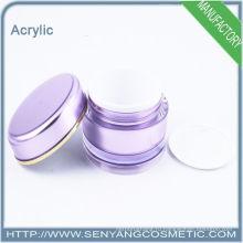 2015 новых круглых акриловые упаковки банку Косметические акриловые Jar