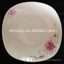 Placa de prato quadrado de porcelana china nova