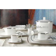 84PCS plomo libre de cadmio libre reina worcester mini plato porcelana cena conjunto