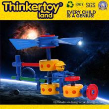 DIY plástico bloque de construcción de juguete de educación para los niños