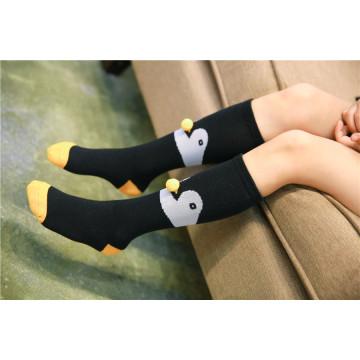 Diseño de fantasía Fox y pingüino Ball Pattern Niñas y niños Lovely Cotton Socks Estilos populares