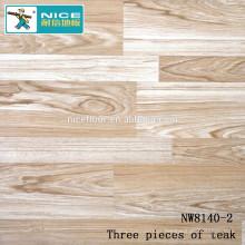 NWseries Three pieces of teak Parquet wood flooring HDF core Parquet Flooring