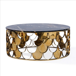 No Folded Modern Stainless Steel Coffee Table