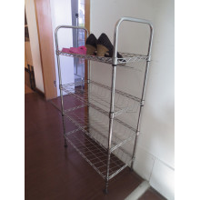 Metal Slanted Shoe Rack Shoe Shelf Shoe Display (SL7525120C4C)