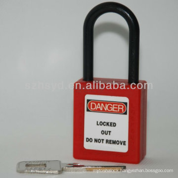 keyed to differ, long shackle safety padlock