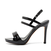 2020 summer new arrivals plus size women patent leather high heel sandals women dress shoes