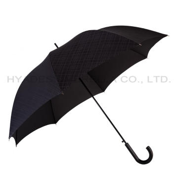 Black Auto Open Mens Straight Umbrella