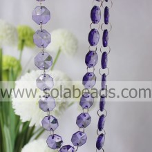 Garland 5*14*14MM Crystal Plastic Ring Beading Trimming