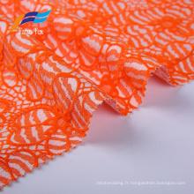 Tissus de costume pour dames brodés de fleurs 100% polyester