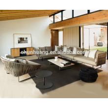 Garden wicker furniture hotel use rattan sofa metal sofa sets