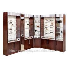 Mit Liebe machen wir professionelle Displays für In Store Marketing Custom Luxus Wooden Retail Brillenboden Displays
