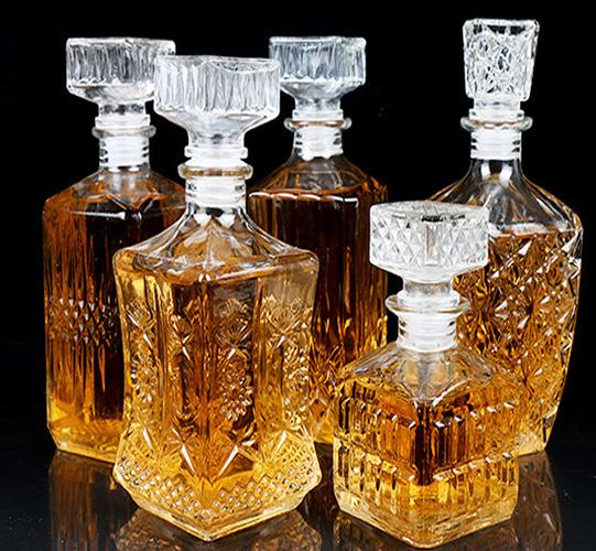 Glass bottles empty bottles