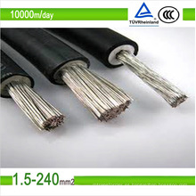 TUV DC estañado cobre cable fotovoltaico solar cable 2.5mm2 6mm2