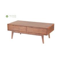 Mesa de centro de madera maciza de nogal oscuro