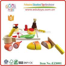 Jugar Food Set Juguetes de madera educativos