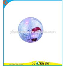 Высокая qulity детские игрушки светодиодный резиновый 75мм Рождественские воде надувной мяч