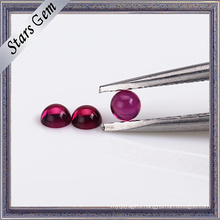 Various Color Synthetic Corundum Round Cabochon Shape