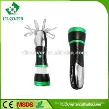 3 * AAA Batterie 3W LED und 4 rote LED 170-220LUM Mini führte Zoom Taschenlampe