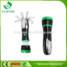 3 * AAA batería 3W LED y 4 led rojo 170-220LUM mini led linterna de zoom