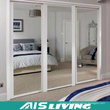 Armário feito sob encomenda do vestuário do quarto com a porta deslizante do espelho (AIS-W243)