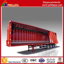 Box Cargo Side Container Semi Curtain Trailer