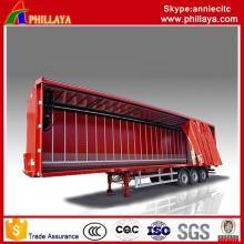 Reboque da cortina do recipiente lateral da carga da caixa semi