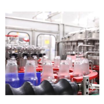 Linha de produção de engarrafamento de vidro de bebida de enchimento automático