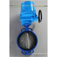 Wafer-Absperrklappe mit elektrischem Antrieb