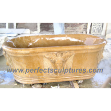 Antique Culture Classic Bathroom Bathtub with Stone Marble Granite (QBN064)