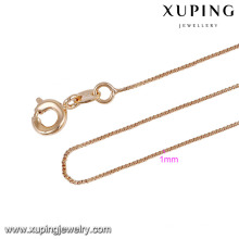 43787 gold chain necklace xuping jewelry fashion simple 18k copper alloy necklace