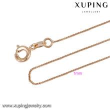 43787 colar de corrente de ouro xuping jóias moda simples liga de cobre 18k colar