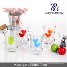 5oz Imprint Heart Design Glass Mug