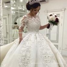 Perles de luxe 2017 Robe de mariée à manches longues à manches longues MW971