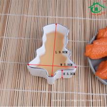 Nuevos productos 2016 plato de cerámica al por mayor de la salsa de sushi del estilo japonés
