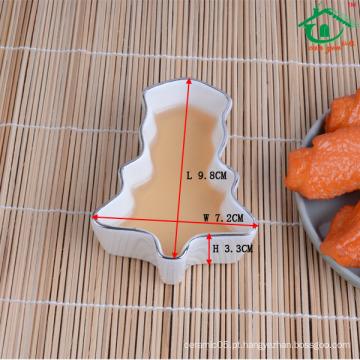 Novos produtos 2016 por atacado estilo japonês cerâmica prato de molho de sushi