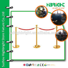 access control railings with velvet rope