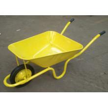Carrinho de mão de roda concreto resistente com a bandeja 65L