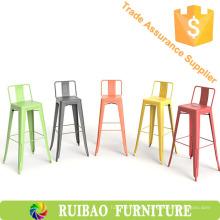 Al aire libre altas sillas industriales del metal de la vendimia para los muebles de la cocina