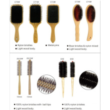 Wood Brush with Nylon Bristles and Ball Tips