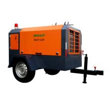 screw 250 cfm diesel mobile air compressor