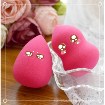 Rose Color Makeup Powder Cosmetics Sponge