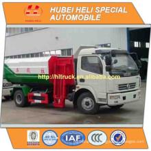 DONGFENG 4x2 6CBM elevación hidráulica camión de basura venta caliente 120hp para exportar cargador lateral